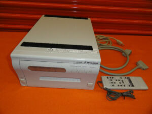 MITSUBISHI CP770DW Ultrasound Digital Color Printer Remote control & AESP Cable / Ultrasound Transducer for sale