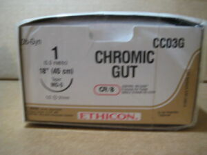 ETHICON CHROMIC GUT CCO3G Sutures for sale