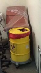 Leadshielded Containers for Hot Lab Storage of Radioactive Waste