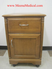 HILL-ROM Walnut Bedside Table for sale