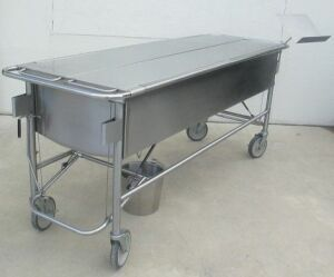KLN MANUFACTURING Dissecting Dip Tank Morgue Table for sale