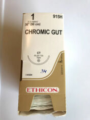 """ETHICON 1 CHROMIC GUT 36"""" CT TAPER 915H Box 34 units Sutures for sale"""