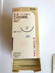 "ETHICON 2-0 CHROMIC GUT 36"" CT TAPER  913H Box 23 units Sutures for sale"