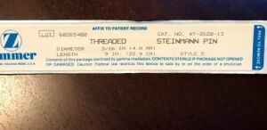 ZIMMER Threaded Steinmann Pin 4.8mm Style 5 Surgical Supplies for sale