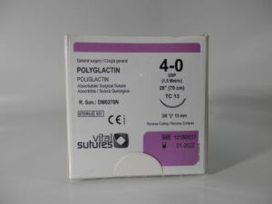 VITAL SUTURES POLYGLACTIN 4-0 TC 13 70 cm Sutures for sale