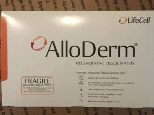 LIFECELL AlloDerm regenerative tissue matrix 8 x 16 102128 (#88) Surgical Supplies for sale