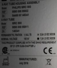 PHILIPS MRC 800 X-Ray Tube for sale