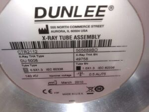 DUNLEE CTR2112 X-Ray Tube for sale