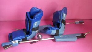 ALLEN PAL Stirrups with Feather Lift Surgical Knee Positioner System w/ Boots Patient Positioning for sale