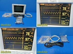 DATASCOPE Passport 2 (NBP ECG SpO2 Print T1)  W/ SpO2 EKG NBP Leads~ Monitor for sale