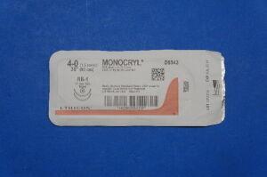 ETHICON D9543 4-0 MONOCRYL, RB-1 17mm 1/2c Taper, Violet Monofilament, 36inch Sutures for sale