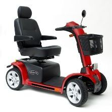 PRIDE MOBILITY Pride Pursuit - 4 Wheel PMV - Silver SC713 Scooter for sale