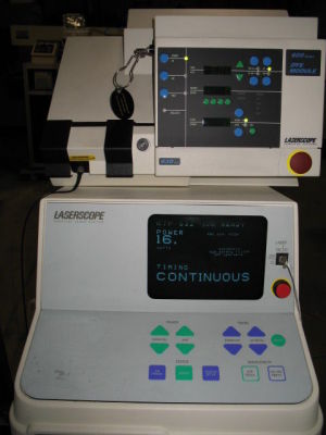 Used Laserscope Ktp 532nm Dye 630nm Surgical Laser For