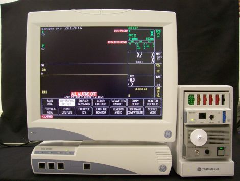 Used Ge Marquette Solar 8000i Bedside Monitor For Sale