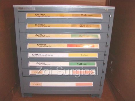 OTHER SYNTHES MaxilloFacial Cabinet Full Of Screws Plates Etc Orthopedic    General For Sale